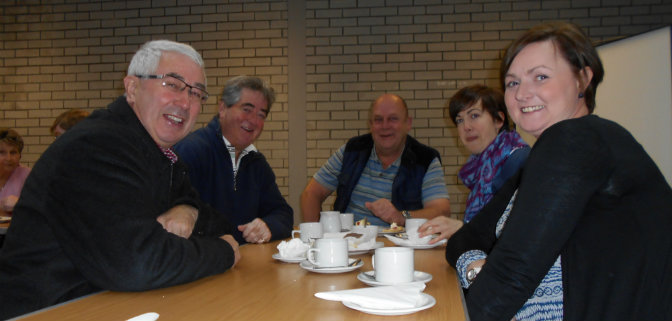 Parishioners at coffee morning